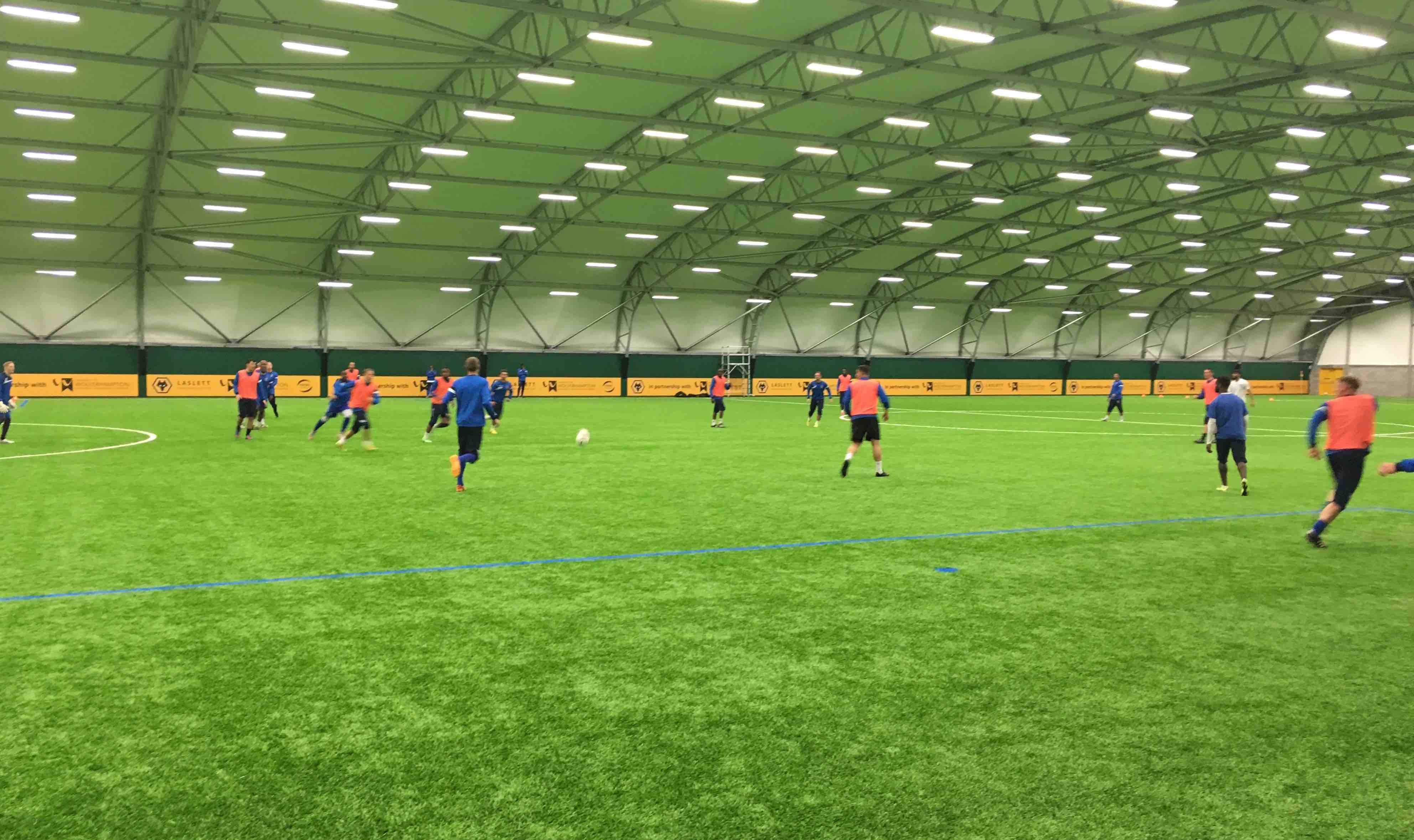 Wolves indoor training